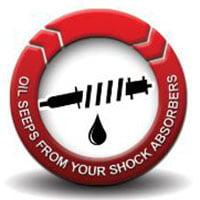 Oil leaks from shocks